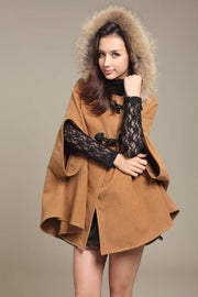 Faux Fur Hooded Sleeveless Cope Loose Short Coat - Meet Yours Fashion - 5