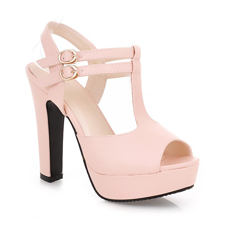 Fashion Platform Peep Toe Outdoor Heels Sandals - MeetYoursFashion - 7