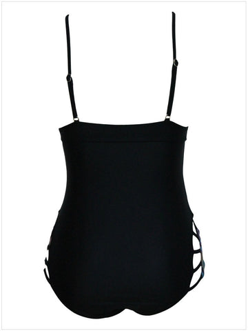 V-neck Hollow Out One Piece Sexy Swimwear Bikini - MeetYoursFashion - 6