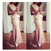 Slim Pure Color O-neck Mermaid Long Party Dress