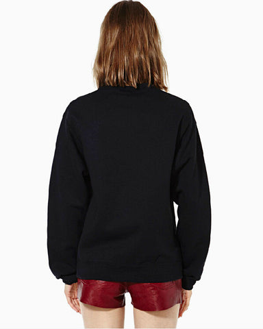Letter Scoop Pullover Splicing Long Sleeve Slim Sweatshirt - Meet Yours Fashion - 5