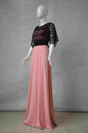 Lace Floral Mesh Long Maxi Party Dress - MeetYoursFashion - 7
