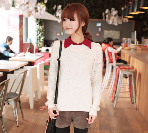 False Two Pieces Pullover Sweater - MeetYoursFashion - 3
