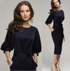 Lantern 3/4 Sleeves Tee Length Bodycon Dress - MeetYoursFashion - 1