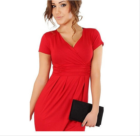 V-Neck Short Sleeves Knee-Length Pregnant Dress - MeetYoursFashion - 3