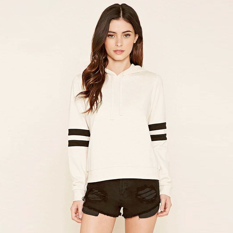 Drawstring Color Block Patchwork Hoodie