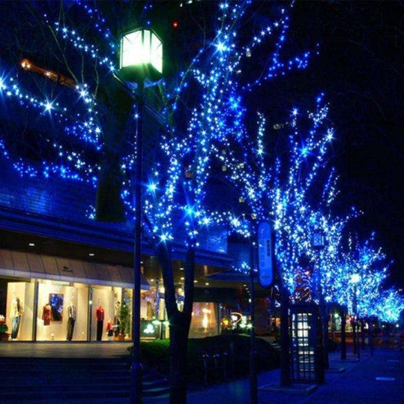 Blue 180 LED Curtain Fairy Decorative Light Lighting Christmas Wedding Party Twinkle EU