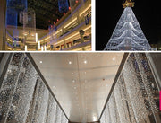 3Mx3M 400LED Outdoor Christmas Xmas String Fairy Wedding Curtain Light With Tail Plug EU/220V White