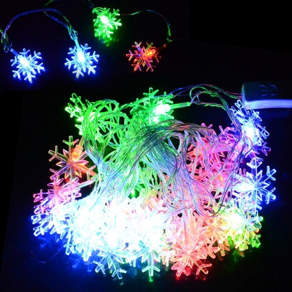 5M 28 LED Snowflake String Fairy Light festival Party Wedding Decoration
