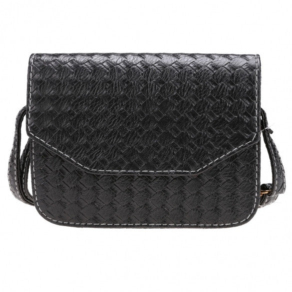 Fashion Women Weave Pattern Small Handbag One Shoulder Messenger Bag Flap Bag