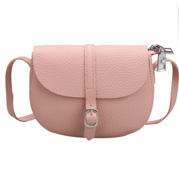 New Women Synthetic Leather Messenger Bag Soft Solid Flap Bag Hasp Closure Casual Party Shoulder Bag