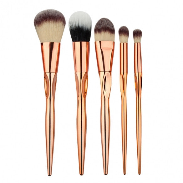5pcs Makeup Brushes Cosmetic Powder Blush Contour Foundation Eyeshadow Make-up Brush Set