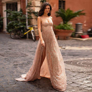 Sparkling Blush Floor Length Dress