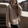 High Collar Pullover Pure Color Knit Sweater - Meet Yours Fashion - 2