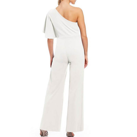 One Shoulder High Waist Wide Leg Women Jumpsuit