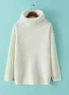 Lapel Pullover Loose High Collar Solid Sweater - Meet Yours Fashion - 1