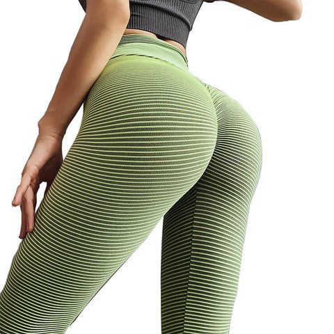 Sexy High Waist Stretch Stripes Skinny Yoga Pants