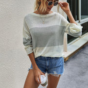 Colorblock Loose Pullover Sweater