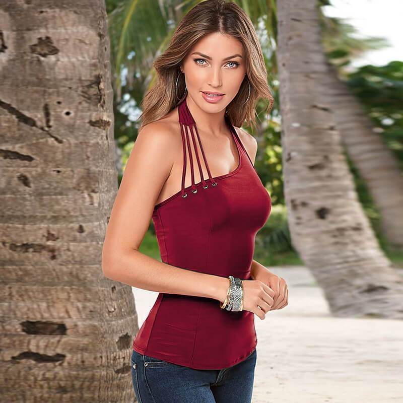 Halter Backless Slim Top