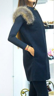 Faux Fur Sleeveless Slim Solid Long Vest - Meet Yours Fashion - 5