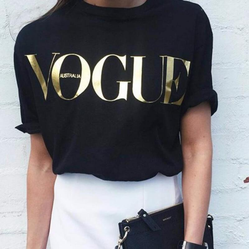 Simple Letter Loose T-shirt