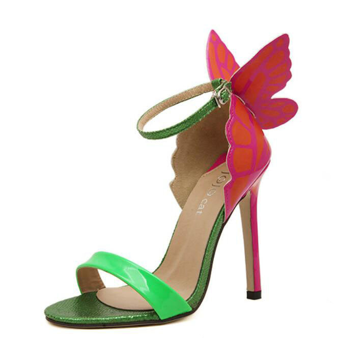 Butterfly Open-toe Ankle Strap Simple Stiletto HIgh Heel Sandals