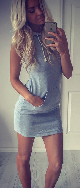 Sleeveless Bodycon Hat-with Short Dress - Meet Yours Fashion - 2