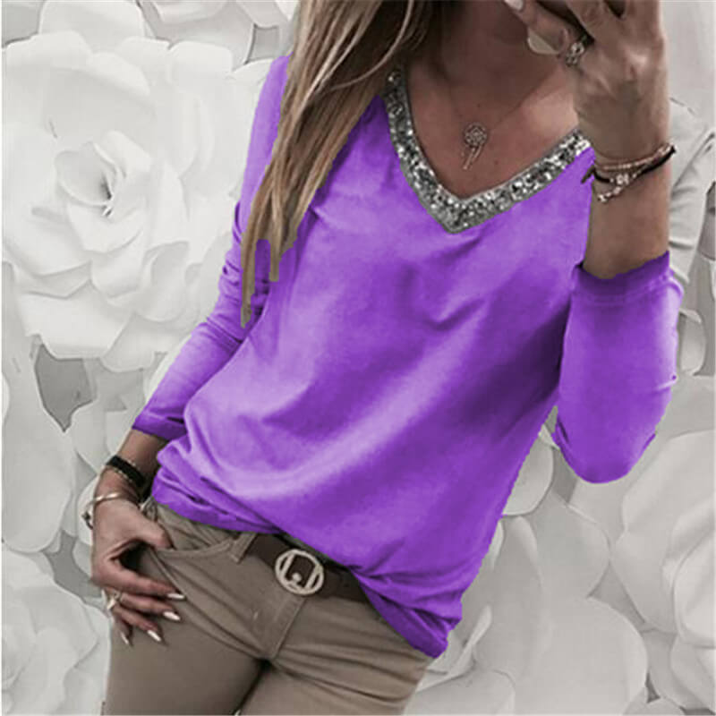 Bright V-neck T-shirt