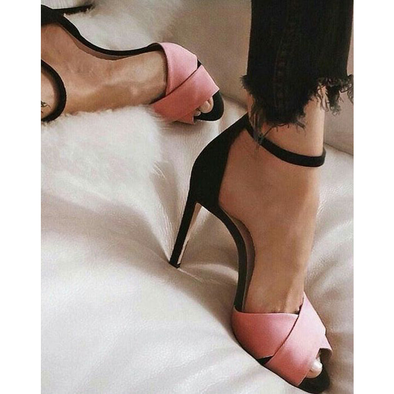 Peep Toe High Stiletto Heel Sandals