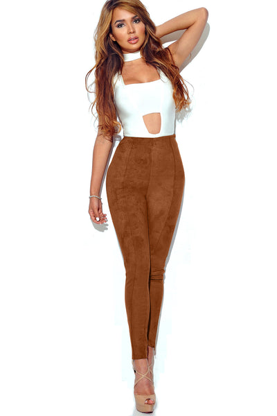 Candy Color Suede Slim Long Skinny Pants Leggings