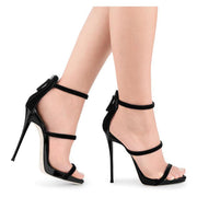 Party Open Toe High Heel Zipper Sandals