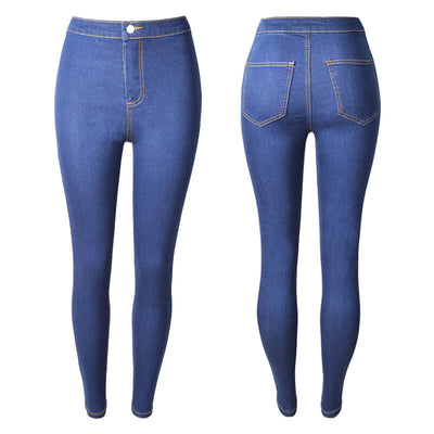 Summer Plus Size Stretch Skinny Denim Pants