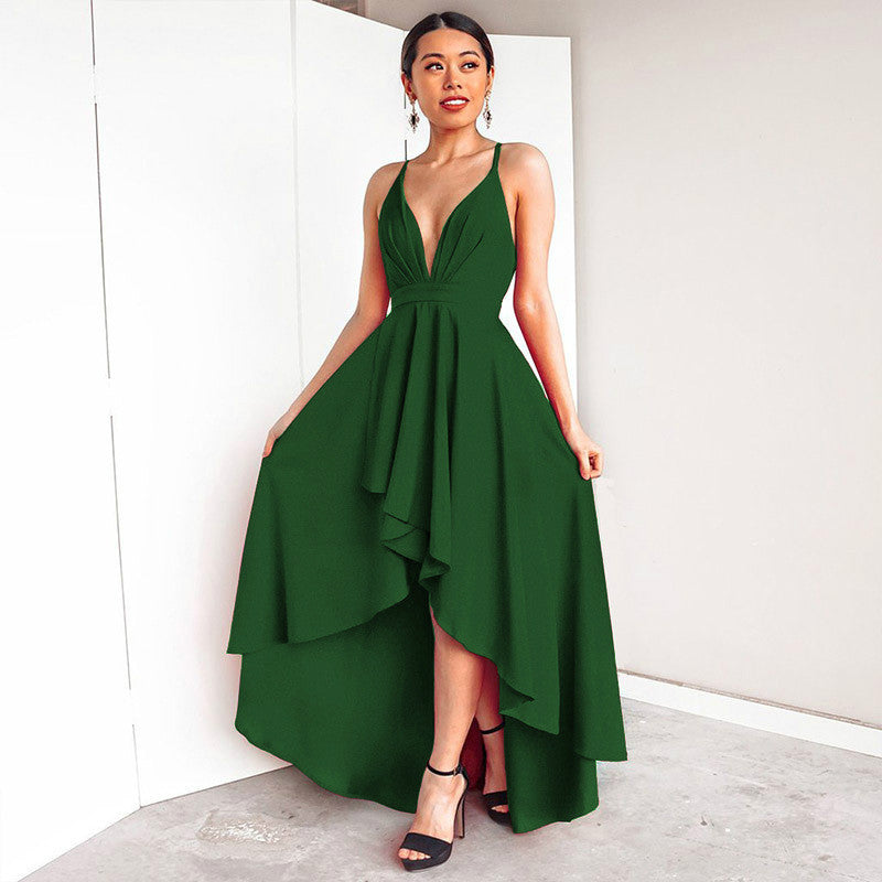 Low High Backless Sling Dress