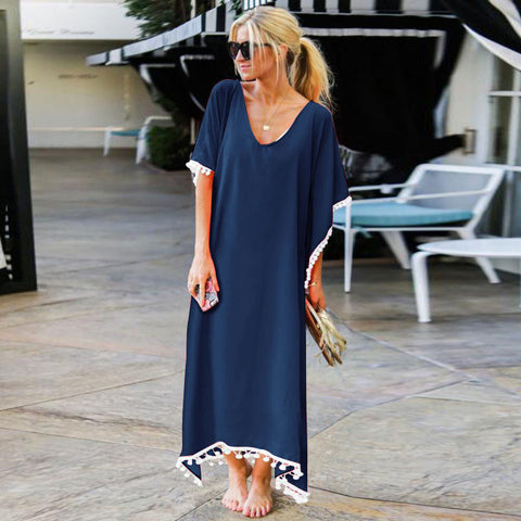 Loose Beach Cover Up Long Dress