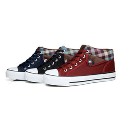 Lapel Leisure Plaid Lace Up Fur Sneakers