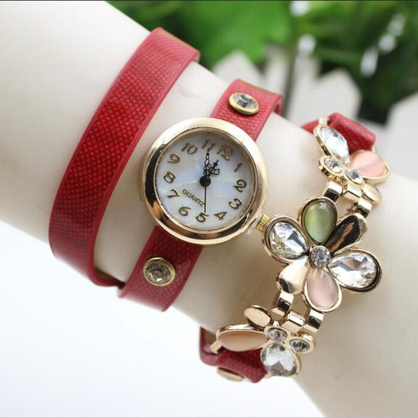 Bright Skin Three Flower Watch