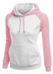Contrast Color Splicing Pocket Slim Pullover Hoodie - Meet Yours Fashion - 1