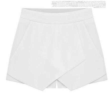 Cross Over High Waist Pure Color Shorts - Meet Yours Fashion - 3