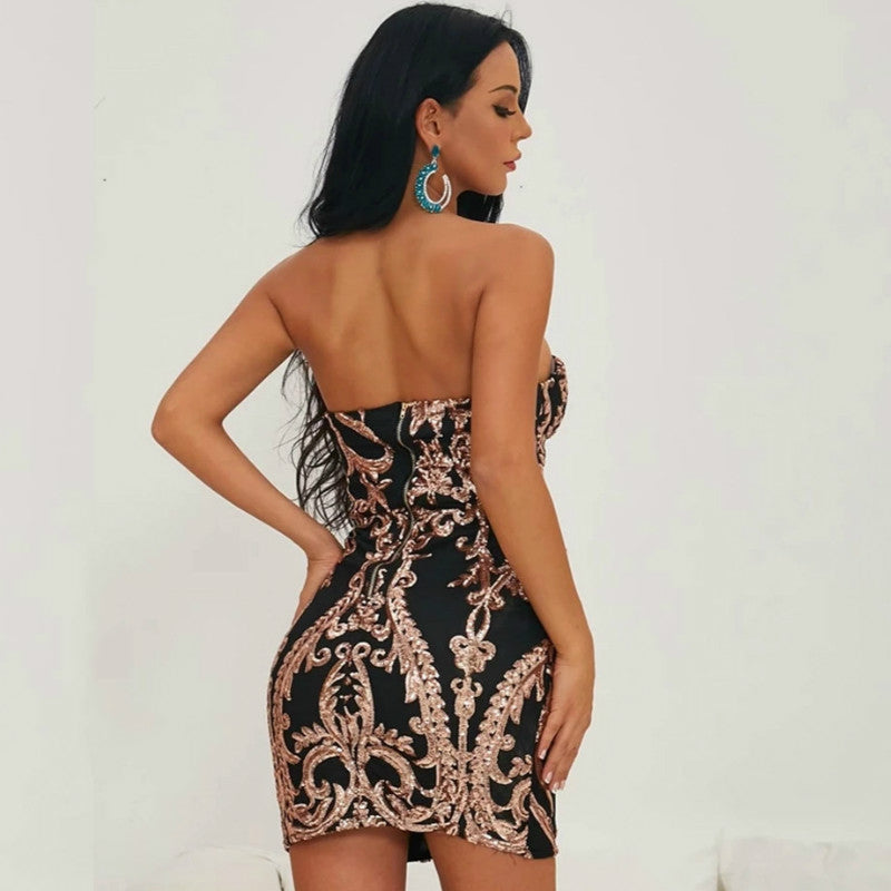 Sequin Tube Bodycon Short Dress