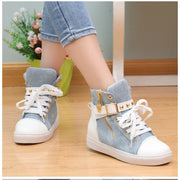 Fashion Skull Decorate Flat High Cut Women's Canvas Rivet Sneaker - MeetYoursFashion - 5