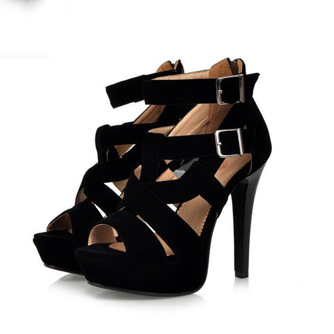 Sexy Ankle Wrap Open Toe Platform High Heel Sandals - MeetYoursFashion - 4