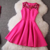 Squins A-line Skater Pleat Mini Prom Dress - MeetYoursFashion - 4