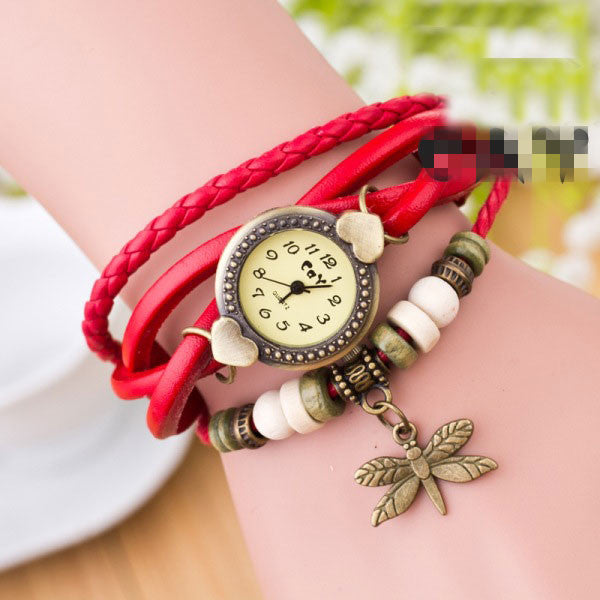 Dragonfly Decorate Multilayer Watch