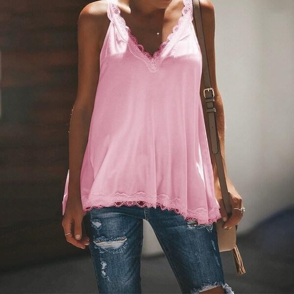 Lace Sleeveless Loose Camisole
