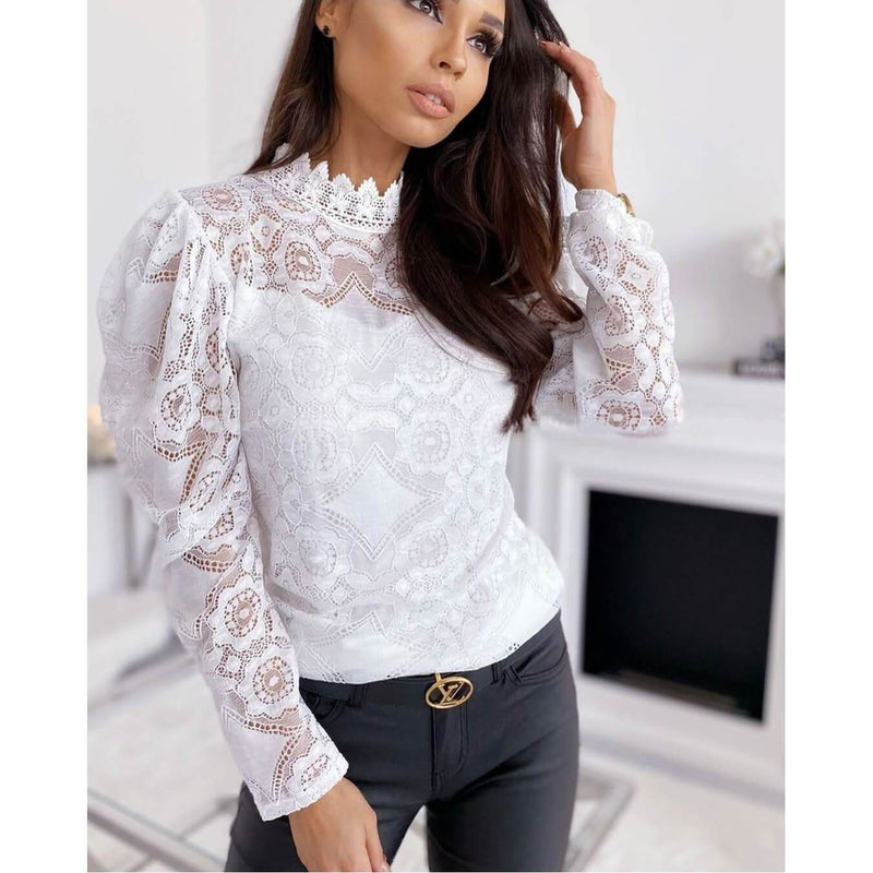 Lace Perspective Long Sleeves T-shirt
