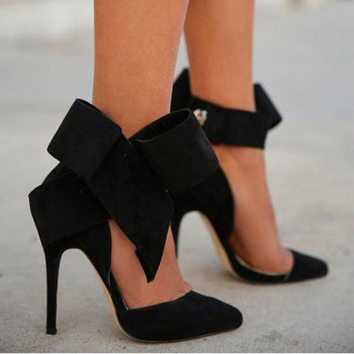 Charming Removable Big Bow High Heel Heels Shoes - Meet Yours Fashion - 12