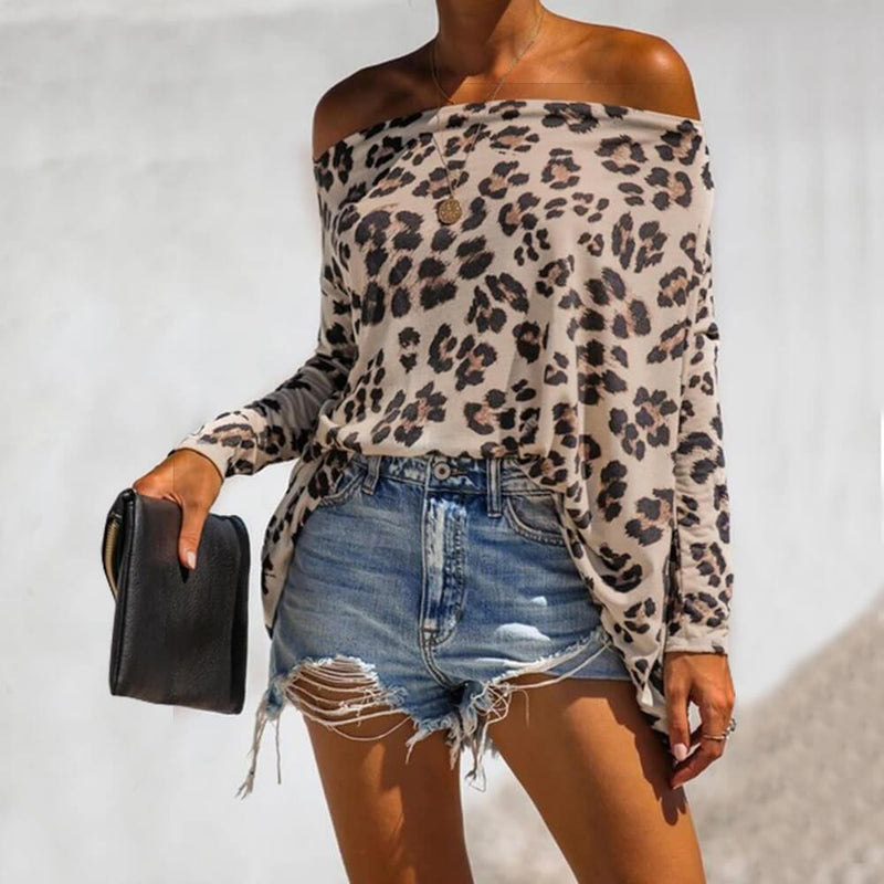 Flower Print Off Shoulder T-shirt