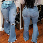 Sexy Flare High Waist Stretch Bodycon Denim Pants