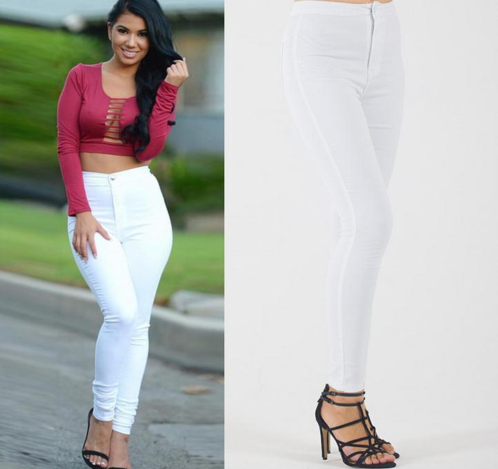 Elastic Slim Straight Casual Skinny High Waist Pants - Meet Yours Fashion - 4
