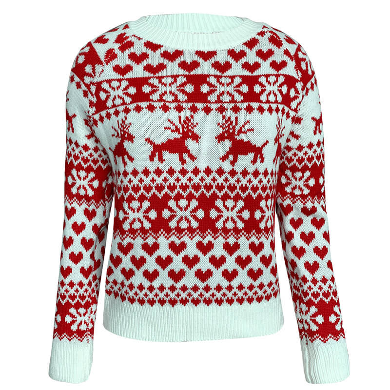 Christmas Reindeer Pullover Ugly Sweater